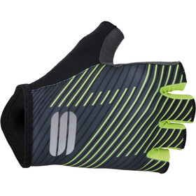 Sportful Bodyfit Team Faster Gloves Black/Dark Grey/Yellow Fluo
